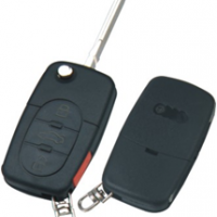 Audi HU66 корпус выкидного ключа 3 кнопки  + паника под батарейку 2032