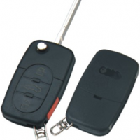 Audi HU66 корпус выкидного ключа 3 кнопки  + паника под батарейку 1616