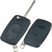 Audi HU66 корпус выкидного ключа 2 кнопки  под батарейку CR2032
