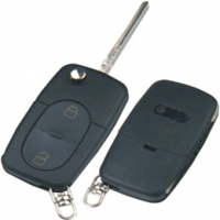 Audi HU66 корпус выкидного ключа 2 кнопки  под батарейку CR1616 Китай