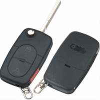 Audi HU66 корпус выкидного ключа 2 кнопки  + паника под батарейку 1616