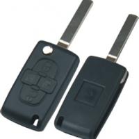 Peugeot  CITROEN  HU83 корпус выкидного ключа  4 кнопки  ( без места для батареи )
