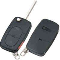Audi HU66 корпус выкидного ключа 2 кнопки  + паника под батарейку 2032