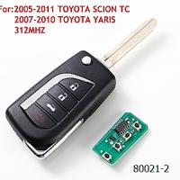 TOYOTA SCION TC 2005-2011гг. TOYOTA YARIS 2007-2010гг. 312Mhz