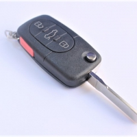 Volkswagen HU66 корпус выкидного ключа 3 кнопки  + паника под батарейку 1616 Китай