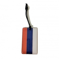 Прокси-брелок плоский с изображением Российского флага